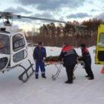 Свердловские вертолеты санавиации трижды за день пришли на помощь пациентам